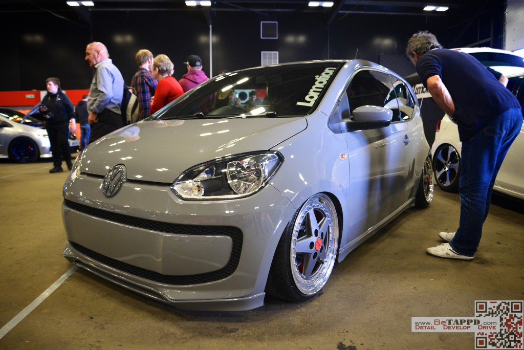 This VW UP! was getting a lot of attention