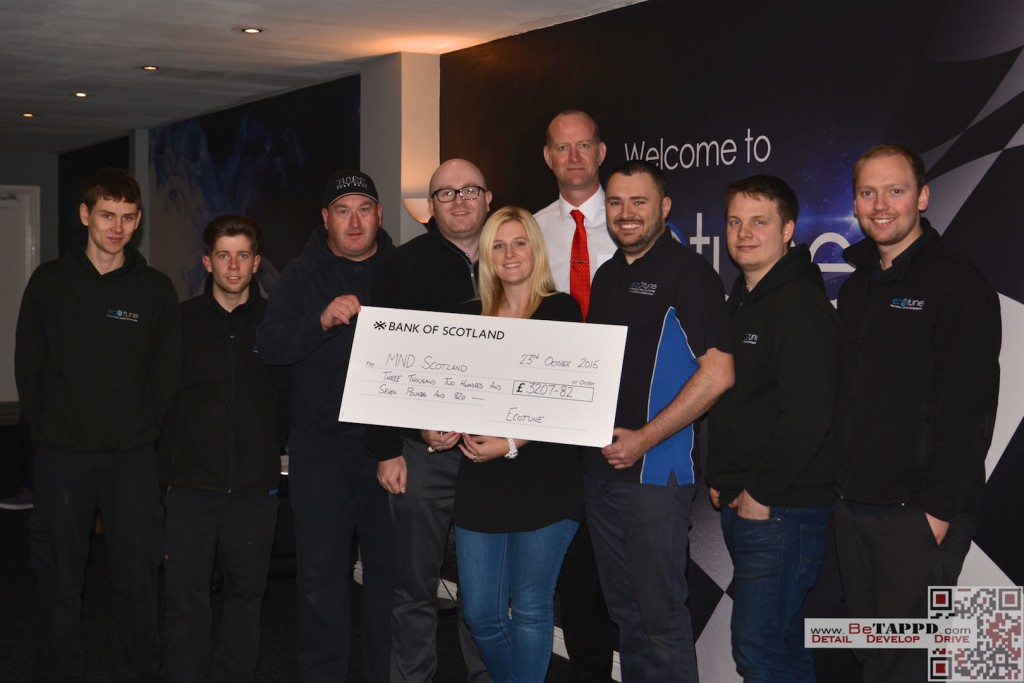 Al and Craig returned to Ecotune for the cheque handover